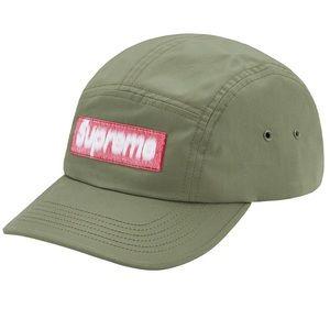 Supreme Reversed Label Camp Cap 'Olive'
